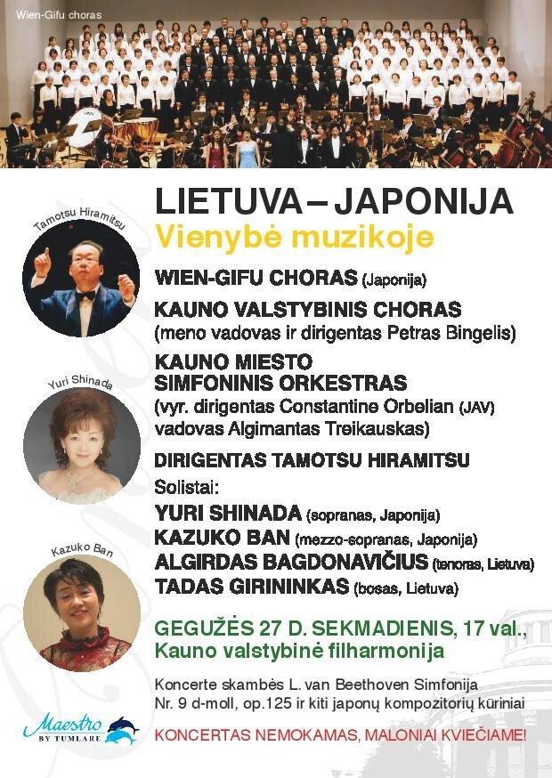"""Koncertas """"Lietuva-Japonija. Vienybė muzikoje"""""""