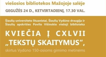 "CXLVII ""Tekstų skaitymai"""