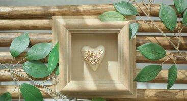 """Keramikos kursai  (2 dalių) - paveikslo """"Meilės širdelė mylimiausiam"""" kūrimas"""