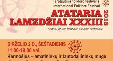 """""""Atataria lamzdžiai-2018"""": Kermošius – amatininkų ir tautodailininkų mugė"""
