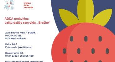 """VDA 8-12 m. vaikų dailės stovykla """"Braškė"""""""