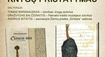 Istoriko Tomo Baranausko knygų pristatymas