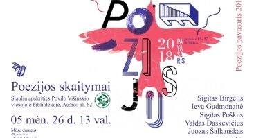 """Tarptautinio festivalio """"Poezijos pavasaris 2018"""" skaitymai"""