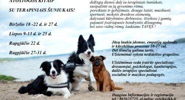 Atostogos kitaip - stovyklos vaikams su terapiniais šuniukais