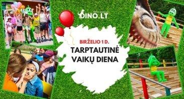 Tarptautinė vaikų gynimo diena Dinozaurų parke Dino.lt Radailiai