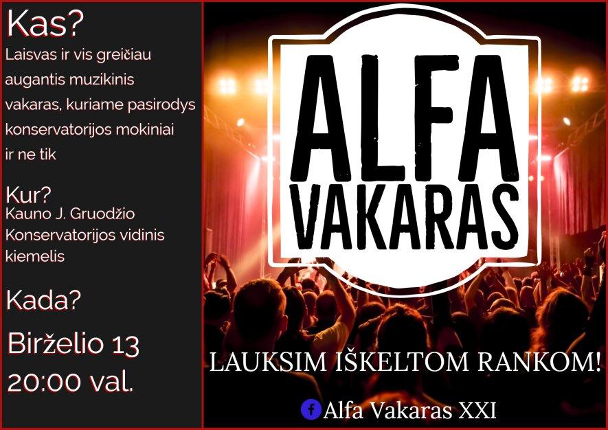 Alfa Vakaras XXI