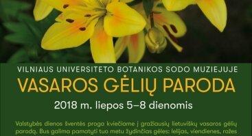 Gražiausių vasaros gėlių paroda Vilniaus Botanikos sode