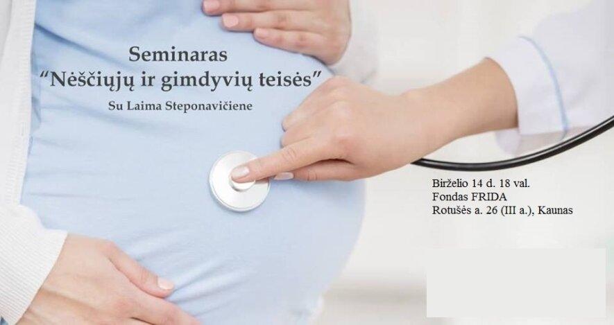 """Seminaras """"Nėščiųjų ir gimdyvių teisės"""""""