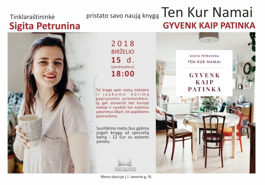 Susitikimas su tinklaraštininke Sigita Petrunina