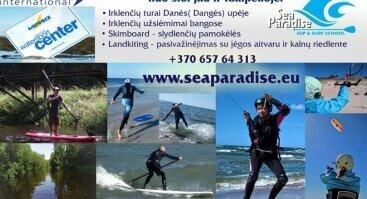 Vandens sporto pramogos Klaipėdoje