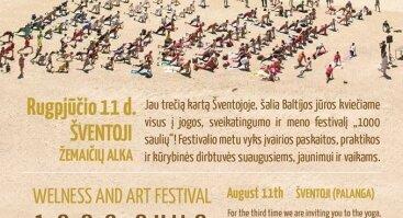 """Sveikatingumo ir meno festivalis """"1000 saulių"""""""