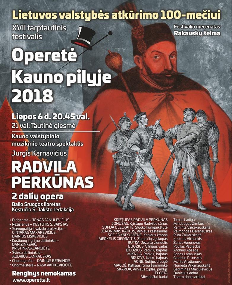 """J. Karnavičiaus opera """"Radvila Perkūnas"""""""
