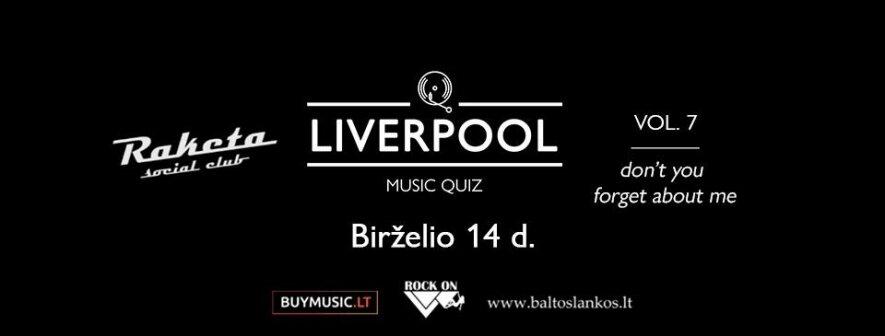 Liverpool Music Quiz - vol. 7