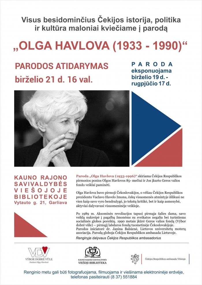 """Fotografijų parodos """"Olga Havlova (1933-1996)"""" atidarymas"""