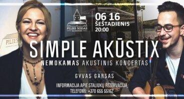 Simple Akūstix nemokamas koncertas