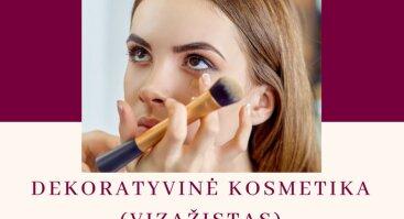 Dekoratyvinės kosmetikos (vizažisto) vakariniai mokymai Šiauliuose