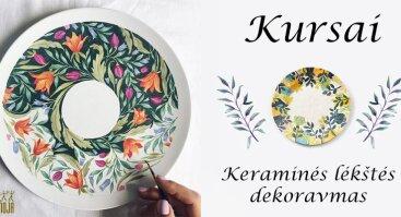 Keraminės lėkštės dekoravimas