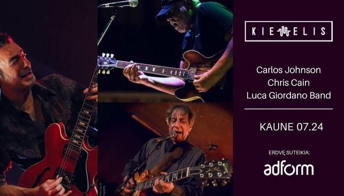 Carlos Johnson, Chris Cain ir Luca Giordano Band