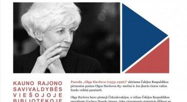 """Kauno rajono savivaldybės viešojoje bibliotekoje fotografijų paroda """"Olga Havlova (1933-1996)"""""""
