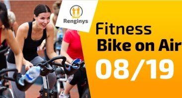 Fitness Bike on Air Apelsine Studlendo terasoje