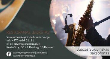 saksofono vakaras su Juozu Strupinsku