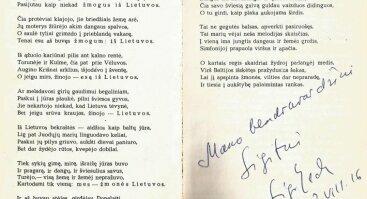 ŽEMĖJ LIETUVOS 2018 : POETO SIGITO GEDOS (1943–2008) ATMINIMUI