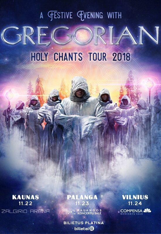 "Gregorian ""Holy Chants Tour 2018"""