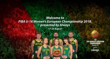 """""""Always"""" Europos jaunučių (U16) merginų A diviziono krepšinio čempionato rungtynės: Lietuva - Danija"""