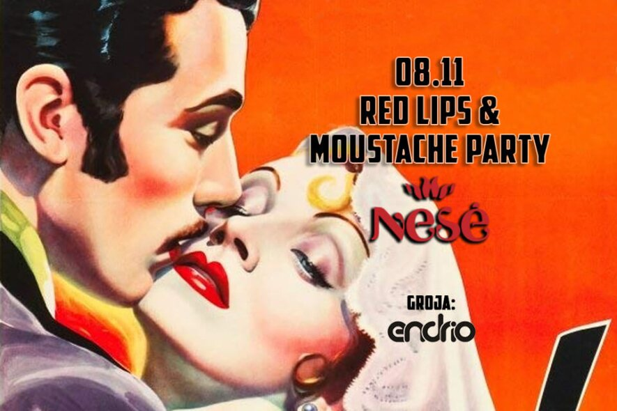 Red Lips & Moustache Party