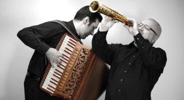 Akordeonininko Andriaus Balachovičiaus ir saksofonininko Vytauto Labučio duetas