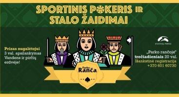 """Sportinis pokeris ir stalo žaidimai """"Atostogų parke"""""""