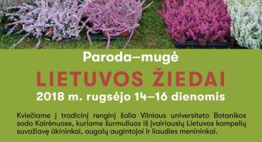 """Paroda-mugė """"Lietuvos žiedai"""" Vilniaus Botanikos sode"""