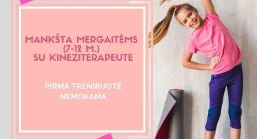 Mankšta mergaitėms (7-12 m.) su kineziterapeute