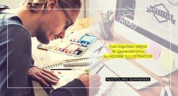 Nuo logotipo idėjos iki įgyvendinimo su Adobe Illustrator