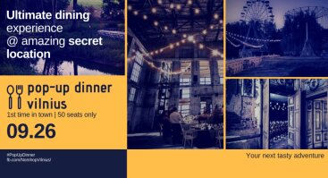POP-UP DINNER @ Insanely Amazing Location |
