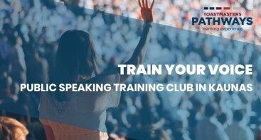 """""""Train your Voice"""" Viešojo kalbėjimo treniruotės (Anglų kalba)"""