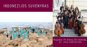 Vilniaus universiteto kamerinio orkestro ir choro iš Indonezijos jungtinis koncertas