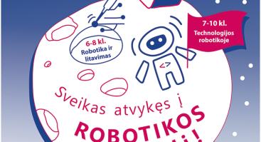 Technologijos robotikoje 7-10 klasių moksleiviams