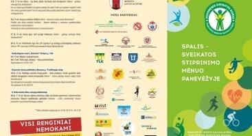 """Projektas """"Spalis – sveikatos stiprinimo mėnuo Panevėžyje"""""""