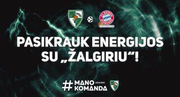 """Kauno """"Žalgiris"""" - Miuncheno """"Bayern"""""""