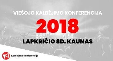 Praktinė Viešo Kalbėjimo Konferencija 2018