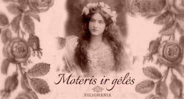 Moteris ir gėlės