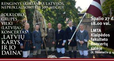 """Latvijos Nepriklausomybės 100-mečiui – grupės """"VILKI"""" (Latvija) koncertas Klaipėdoje"""