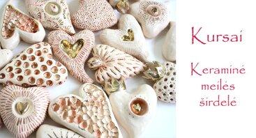 Keramikos kursai - meilės širdelė mylimiausias (paveikslas)
