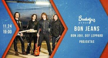 "Gyvas šeštadienis: ""Bon Jeans"": Bon Jovi, Def Leppard projektas"