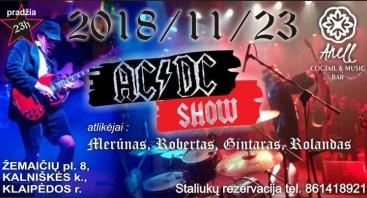 AC/DC SHOW Anell muzikos ir kokteiliu bare