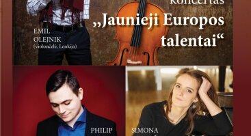 """Kamerinės muzikos koncertas ,,Jaunieji Europos talentai"""""""