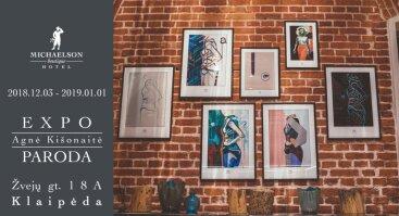 Agnės Kišonaitės paveikslų reprodukcijų paroda Klaipėdoje