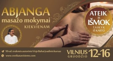 Abjanga masažo mokymai kiekvienam