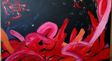 """Erikos Petunovienės (Aytės) tapybos parodos """"Pasaulio gimimas"""" atidarymas"""